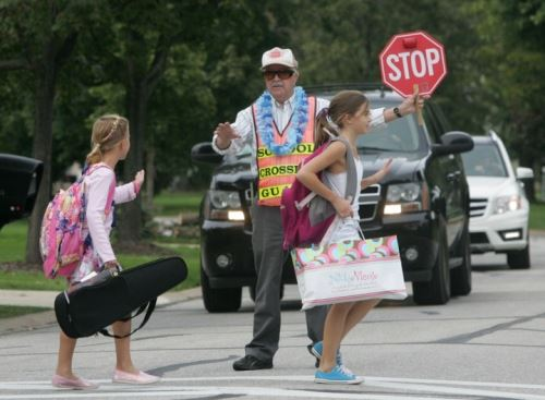 school crossing guard Clark Rumiser