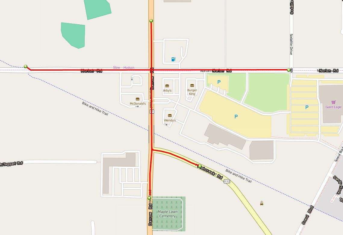 SR 91 Norton Map