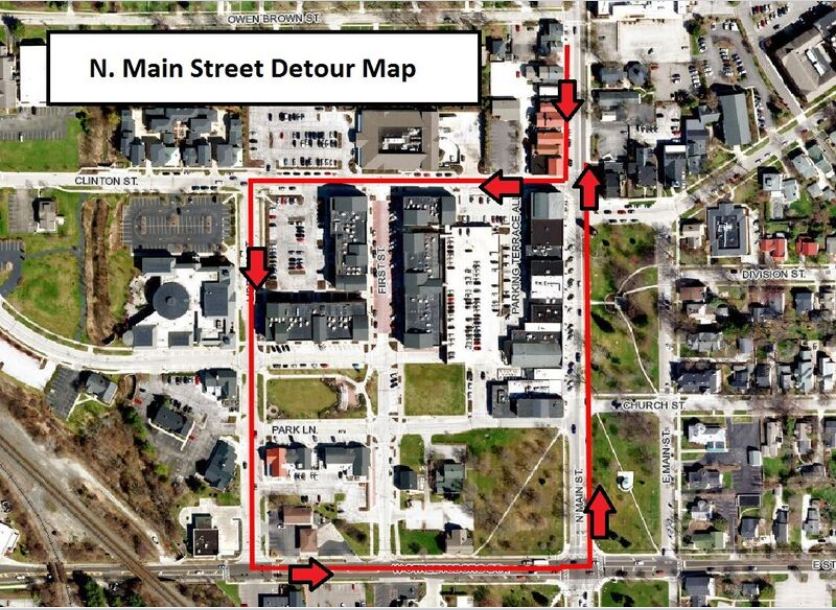 N Main Detour Map