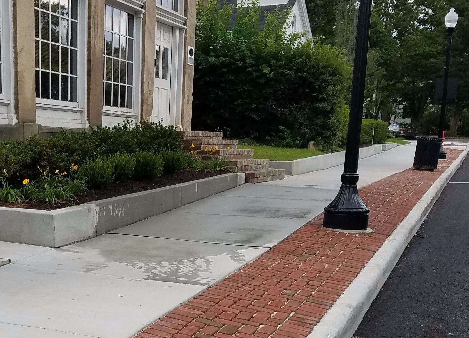 Pervious Pavers on N Main Street 1