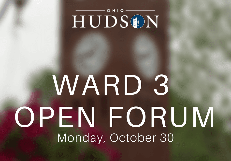 Ward 3 Open Forum