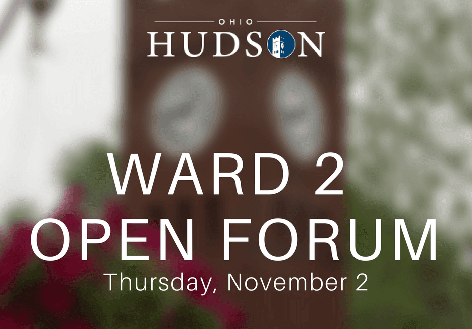 Ward 2 Open Forum