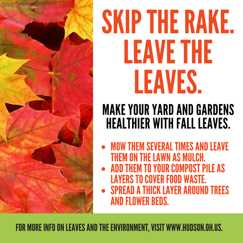 residential leaf collection hudson oh official website