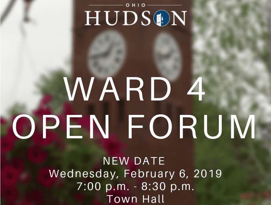 Ward 4 Open Forum