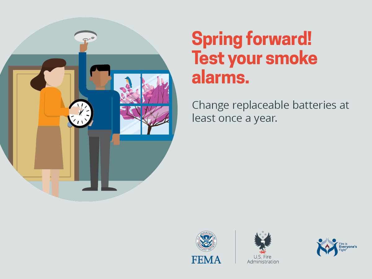 Spring forward check smoke alarms