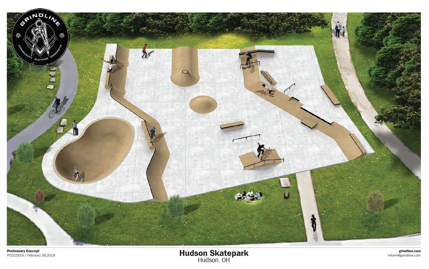 Hudson Skatepark Drawing Updated 6-2019