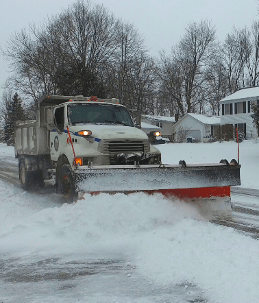 Snow Plowing in Hudson