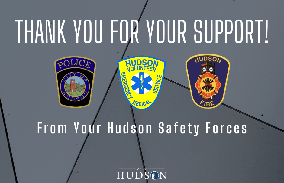 Thank You From Hudson Safety Forces