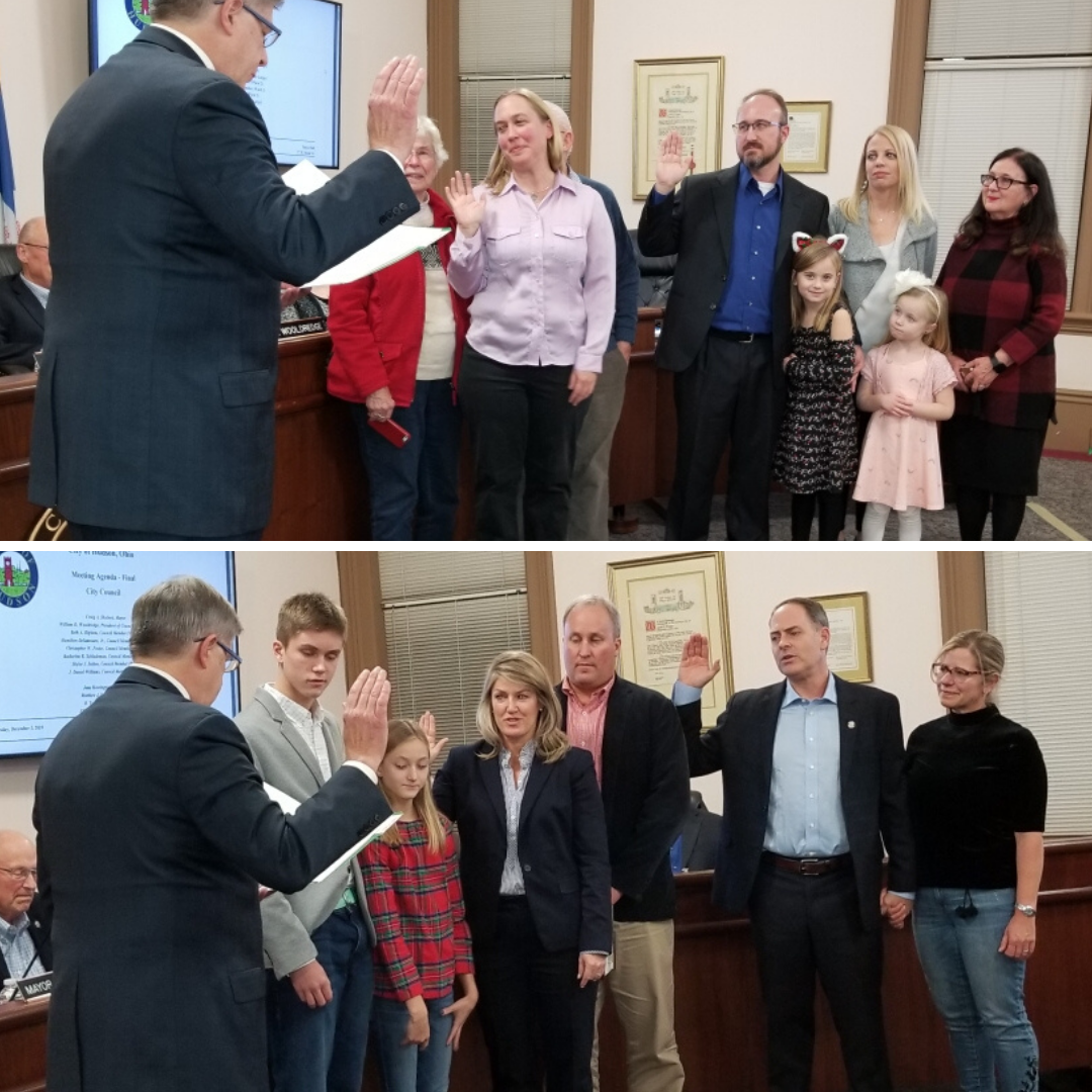 Swearing in of Kate, Skylar, Beth and Chris